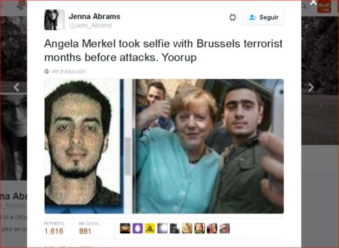 Merkel Selfie Brussels Terrorist