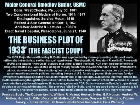 Smedley Butler and the Fascist Coup 1933