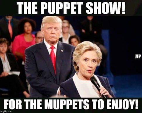 clinton-trump-puppets